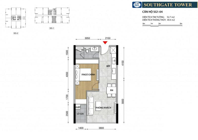 Thiết kế Căn hộ South Gate Tower Quận 7
