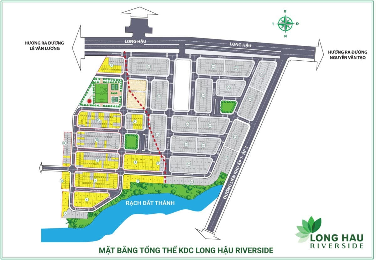 mat bang phan lo du an long hau riverside - DỰ ÁN LONG HẬU RIVERSIDE