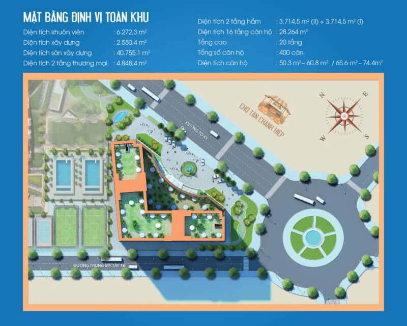 Mặt bằng tổng thể Dự án Tô Ký Tower Quận 12