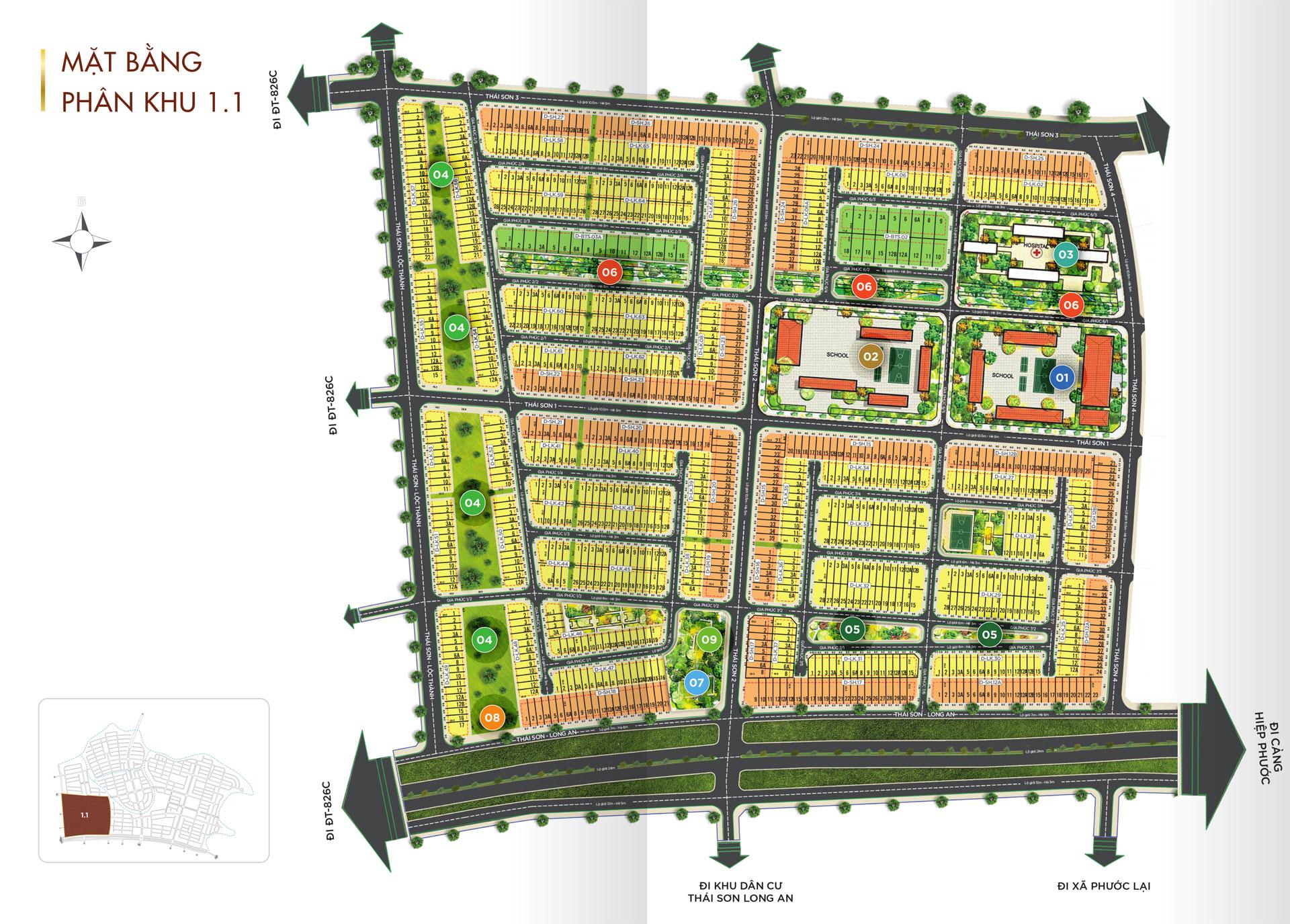 Mat bang Phan lo Du an TT Millennia City 1 - T&T MILLENNIA CITY