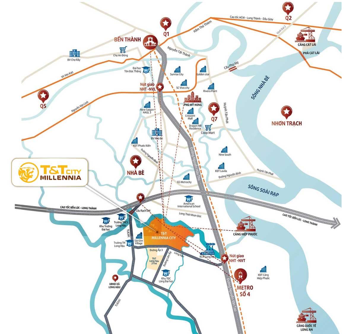 vi tri du an TT Millennia City Long Hau - vi-tri-du-an-T&T-Millennia-City-Long-Hau