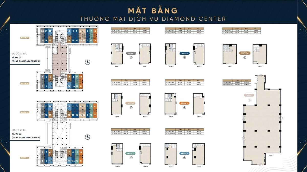 Mat bang Shophouse Thap Diamond Center Dream Home Riverside - Mặt-bằng-Shophouse-Tháp-Diamond-Center-Dream-Home-Riverside