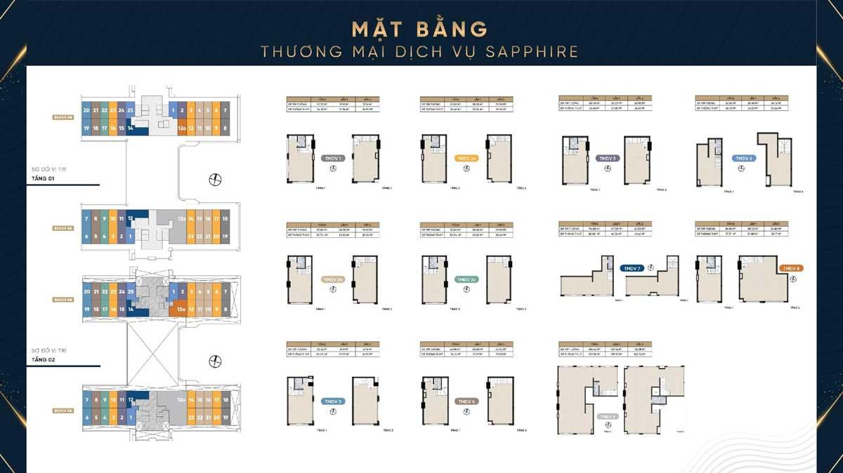 Mat bang Shophouse Thap Sapphire Dream Home Riverside - DREAM HOME RIVERSIDE QUẬN 8