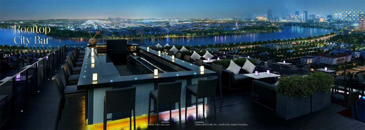 Rooftop City Bar tại Sunshine City Sài Gòn