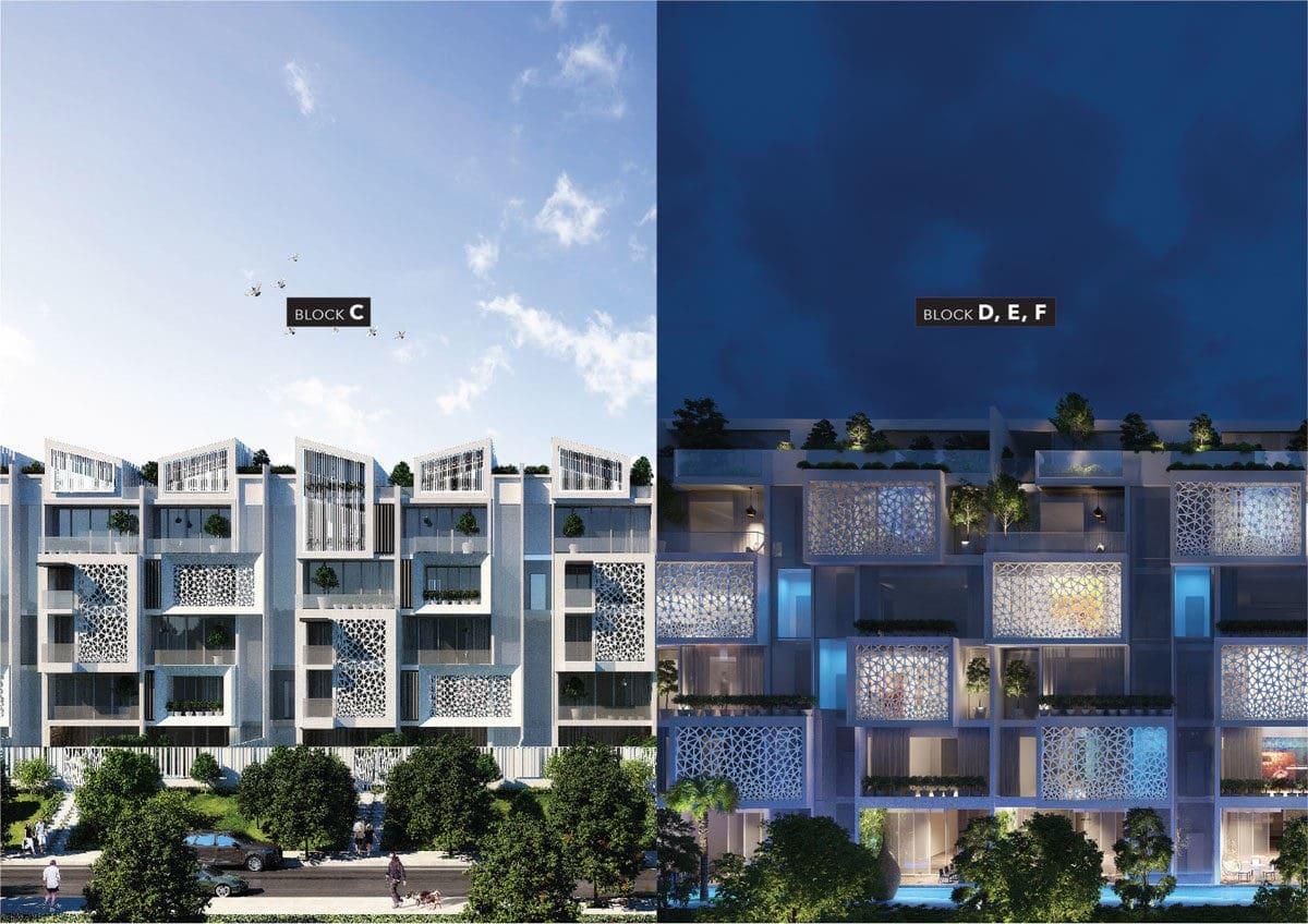 Block C-D-E-F khu nhà Phố City Villas Evergreen