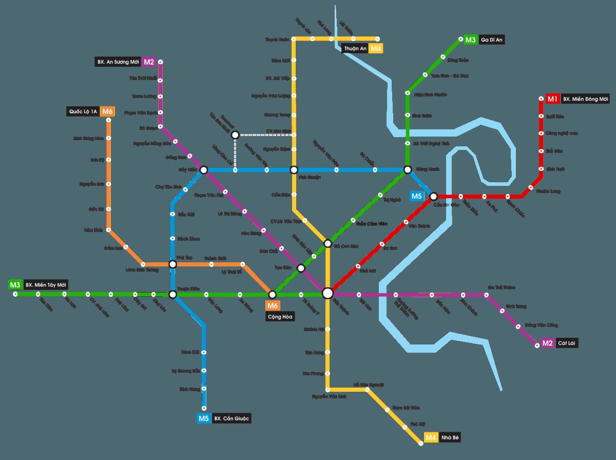 cac tuyen metro tphcm - DỰ ÁN SAIGON WEST GARDEN BÌNH TÂN