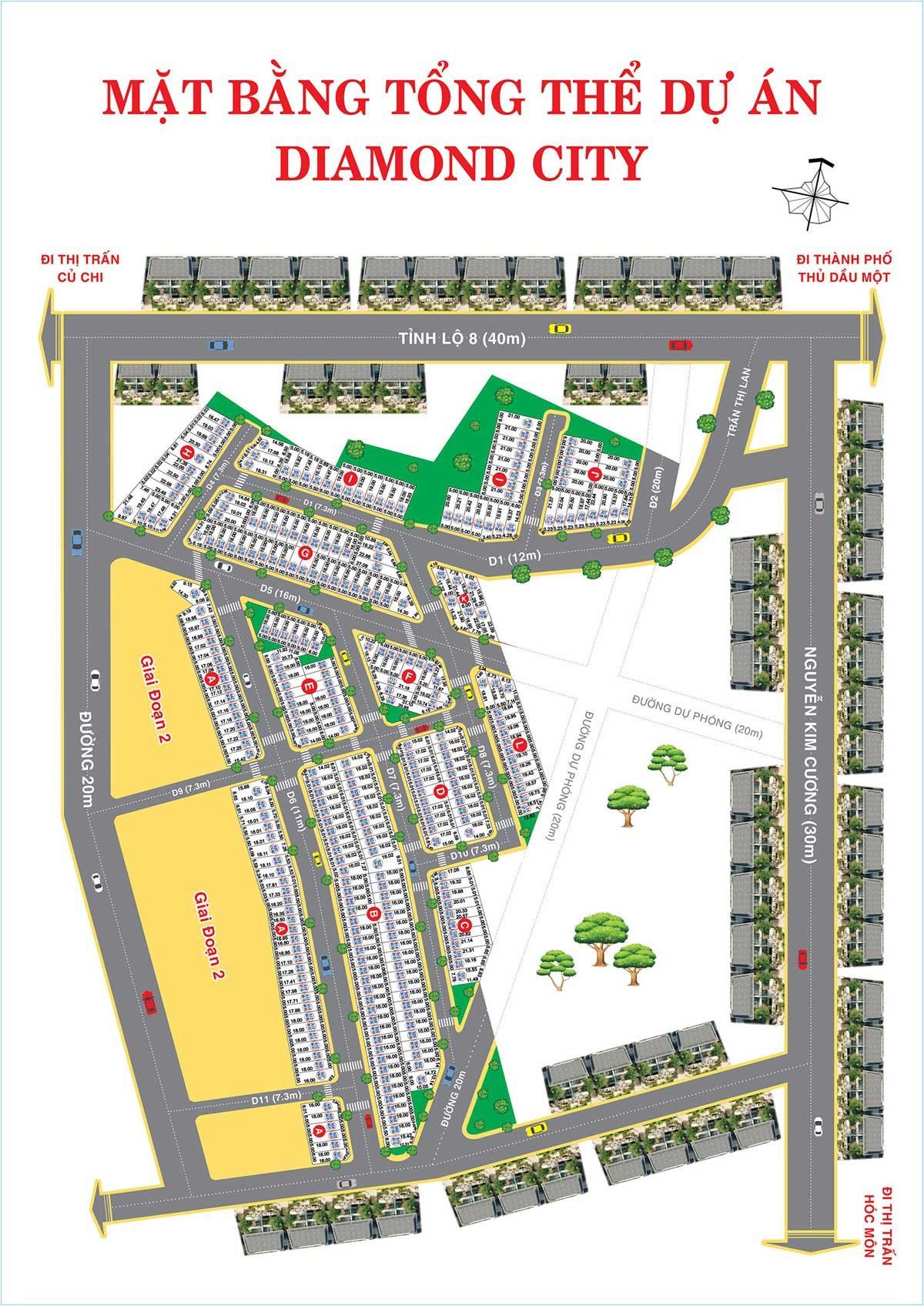 Dự án Khu Dân Cư Diamond City Tỉnh lộ 8 Củ Chi