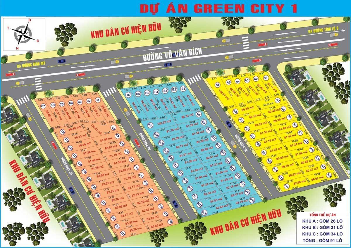 Dự án Green City 1 mặt tiền đường Võ Văn Bích, xã Bình Mỹ, huyện Củ Chi