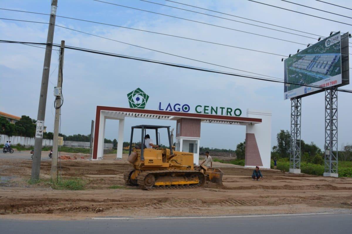 Thi công Cổng chào Dự án Lago Centro