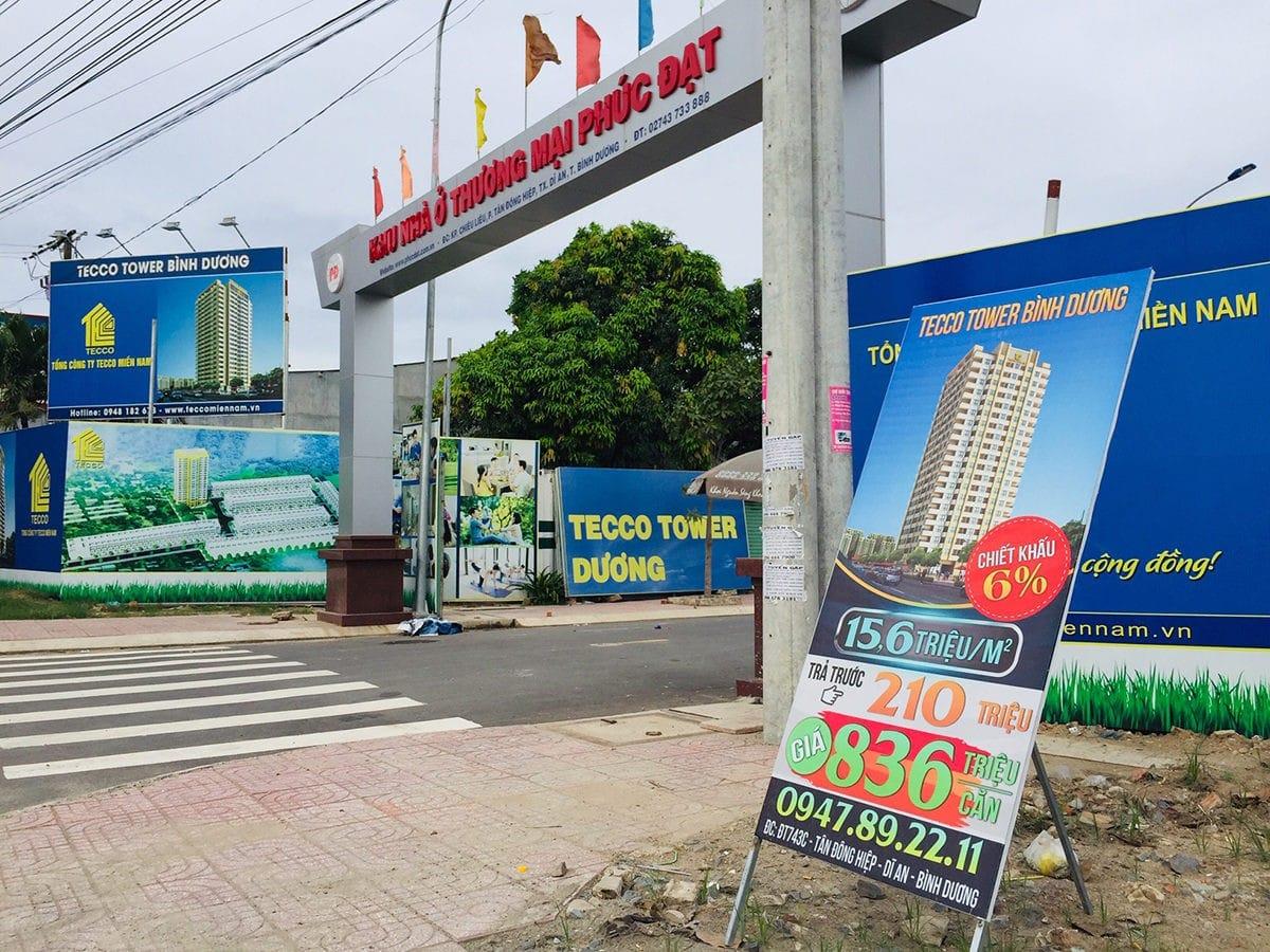 Hình ảnh Khu Căn hộ Tecco Tower Bình Dương