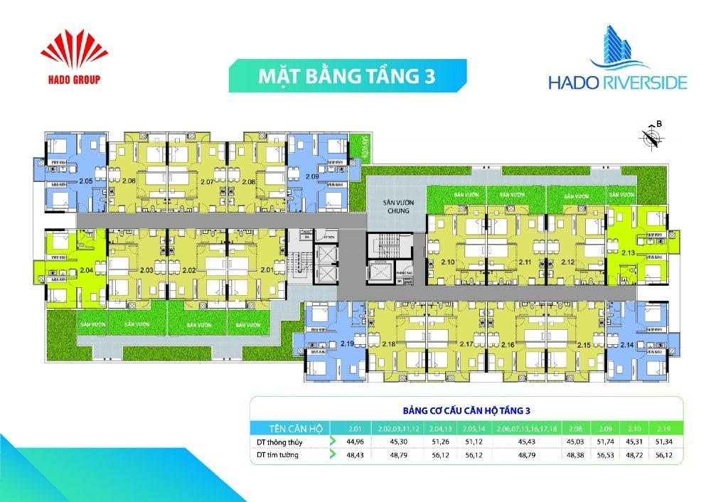 mat bang tang 3 hado riverside