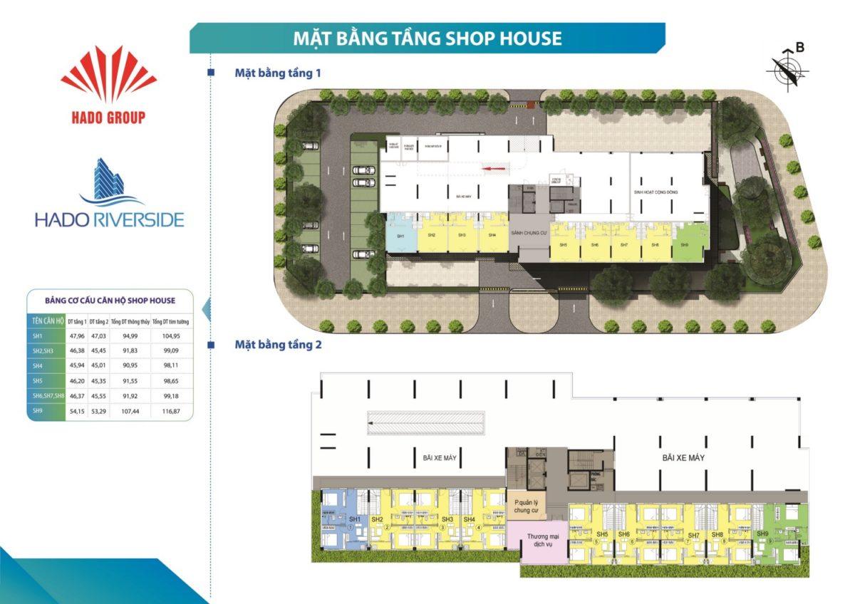 mat bang tang shophouse hado riverside - DỰ ÁN CĂN HỘ HÀ ĐÔ RIVERSIDE QUẬN 12