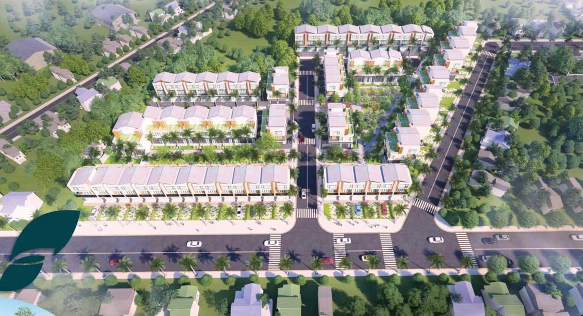 Phối cảnh Dự án đất nền Khu dân cư TVC Trần Văn Chẩm Củ Chi