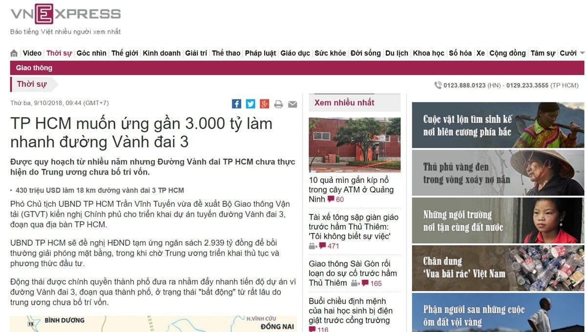 tam ung 3000 ty dong lam duong vanh dai 3 - DỰ ÁN RES 1 - THE RESIDENCE 1 VÕ VĂN BÍCH CỦ CHI