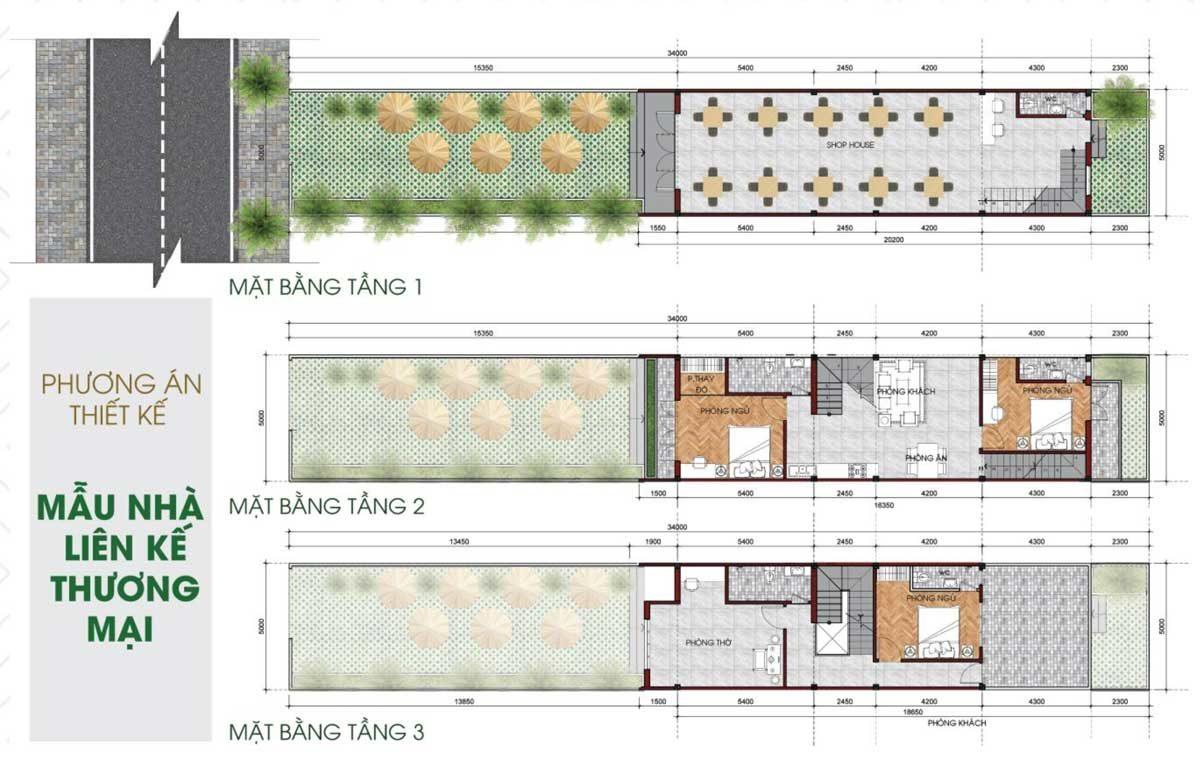Thiết kế Nhà phố thương mại Khu dân cư TVC Trần Văn Chẩm Củ Chi
