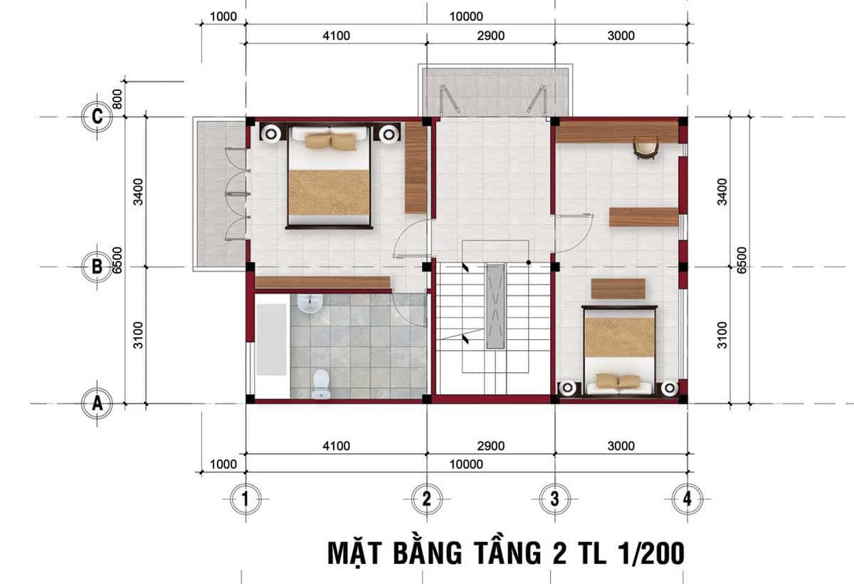thiet ke tang 1 nha pho the residence 1 - DỰ ÁN RES 1 - THE RESIDENCE 1 VÕ VĂN BÍCH CỦ CHI