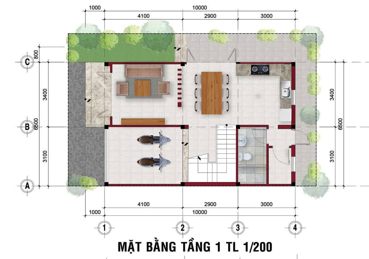 thiet ke tang tret nha pho the residence 1 - DỰ ÁN RES 1 - THE RESIDENCE 1 VÕ VĂN BÍCH CỦ CHI