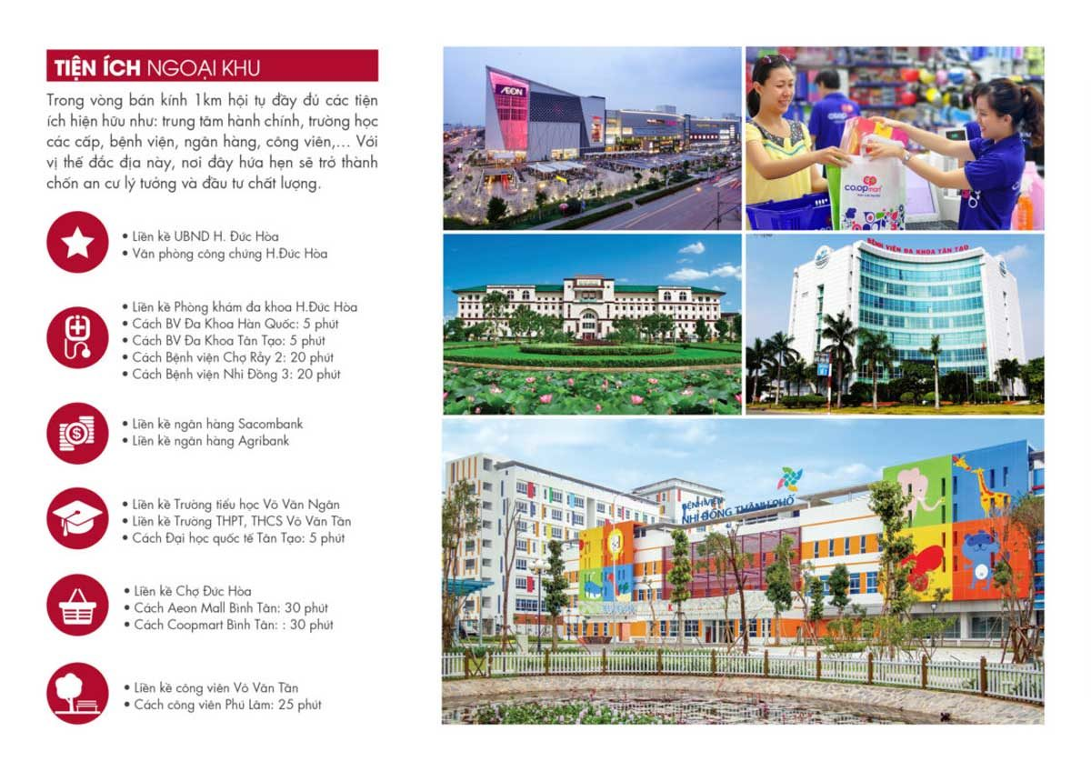 tien ich vista land - DỰ ÁN VISTA LAND CITY ĐỨC HÒA LONG AN