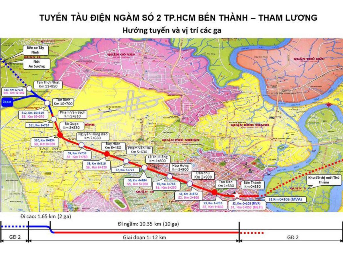 tuyen metro so 2 - DỰ ÁN RES 1 - THE RESIDENCE 1 VÕ VĂN BÍCH CỦ CHI