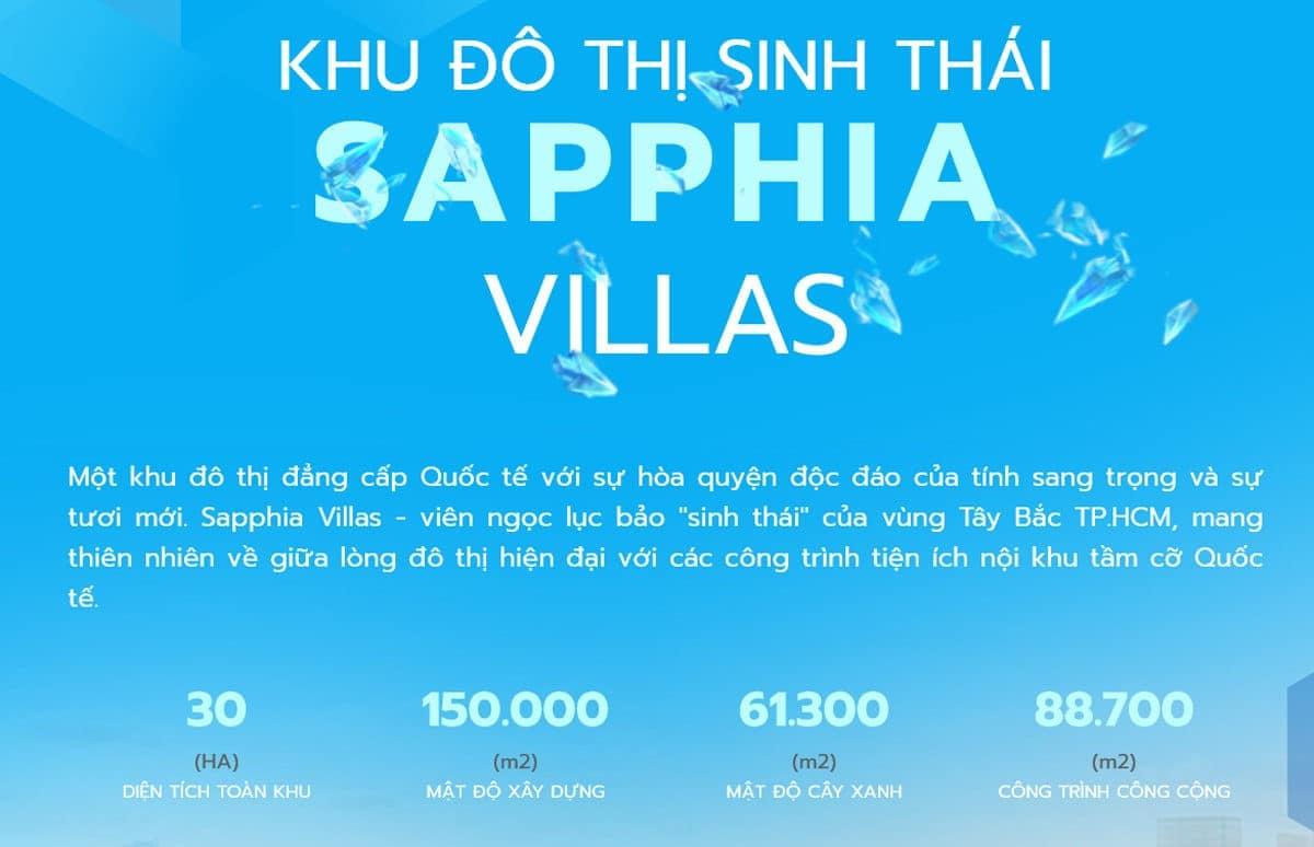 Khu đô thị Sinh thái Sapphia Villas