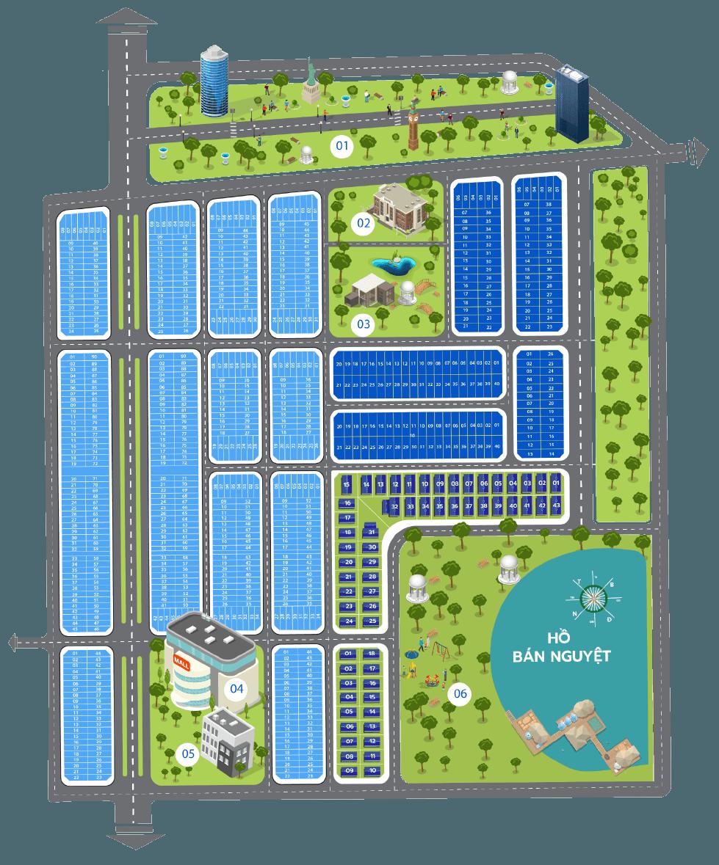 Mặt bằng Dự án Sapphia Villas