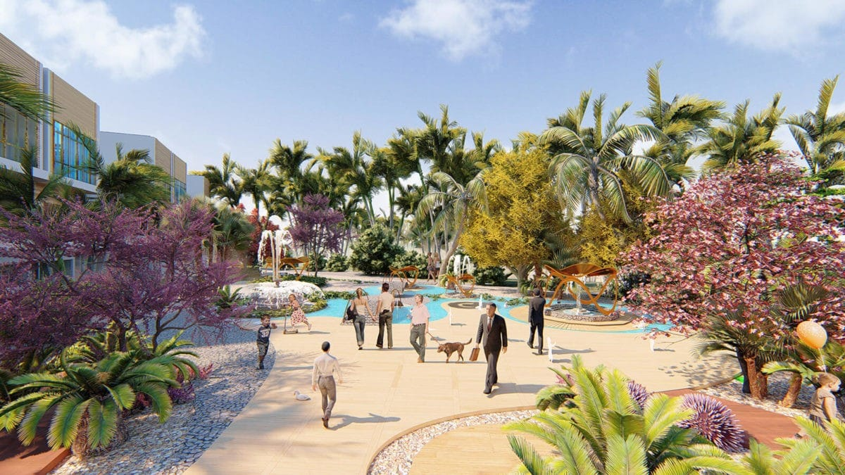 Công viên nội khu tại Dự án Khu đô thị Ocean Gate Bình Châu