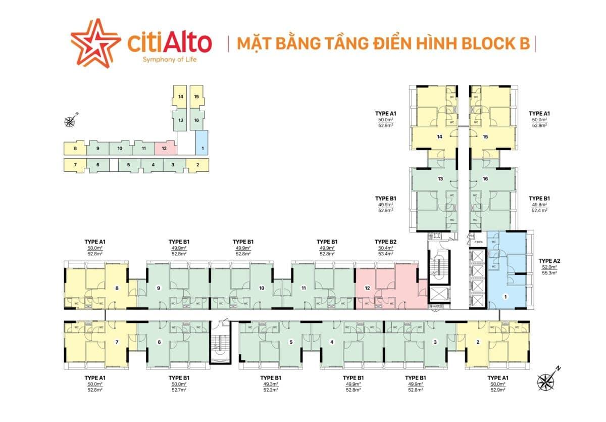 mat bang tang citialto - DỰ ÁN CĂN HỘ CITIALTO QUẬN 2