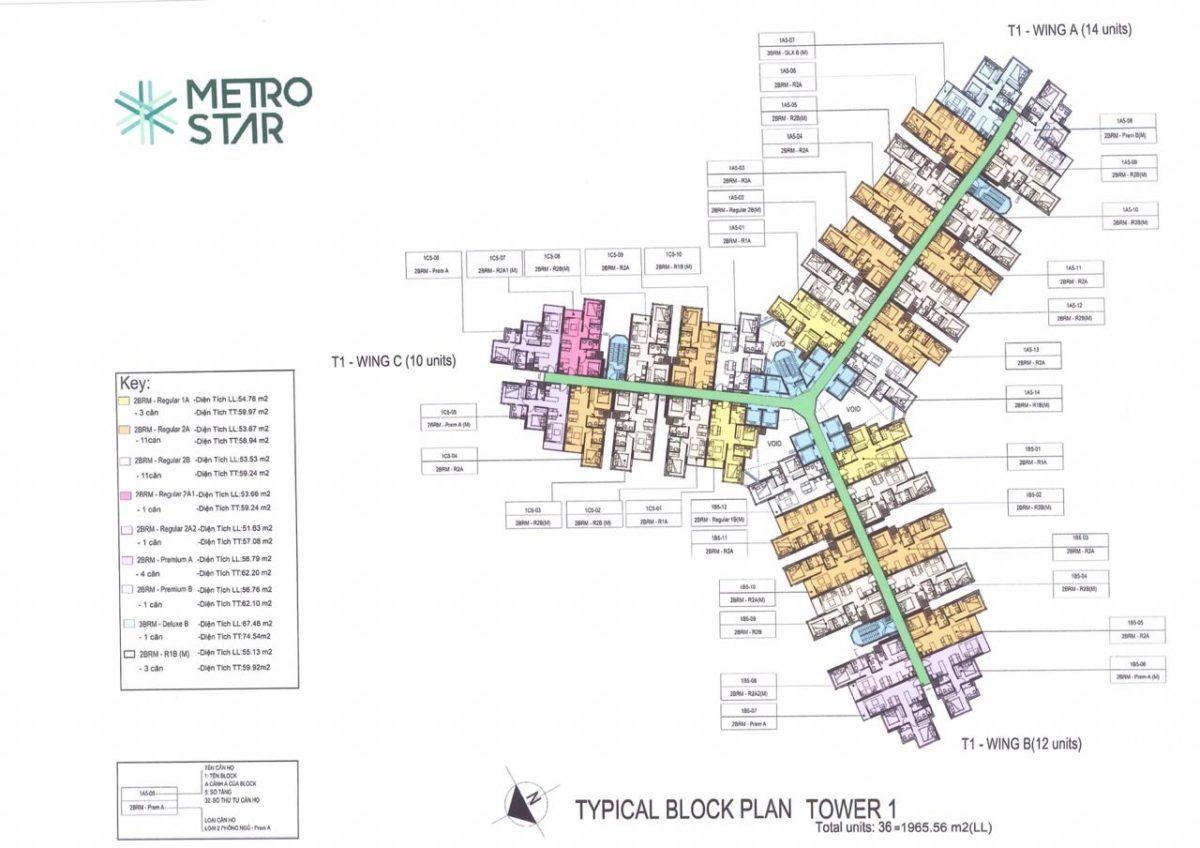 Mặt bằng tầng Dự án Căn hộ Metro Star
