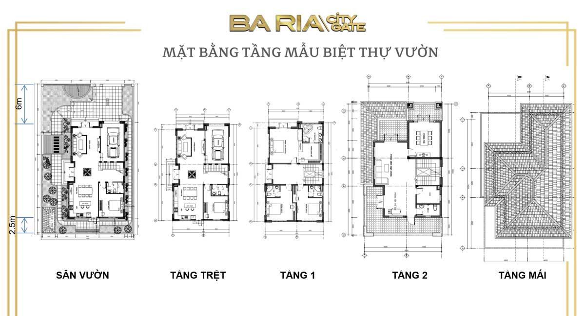 mat bang thiet ke biet thu ba ria city gate - DỰ ÁN BARIA CITY GATE BÀ RỊA VŨNG TÀU
