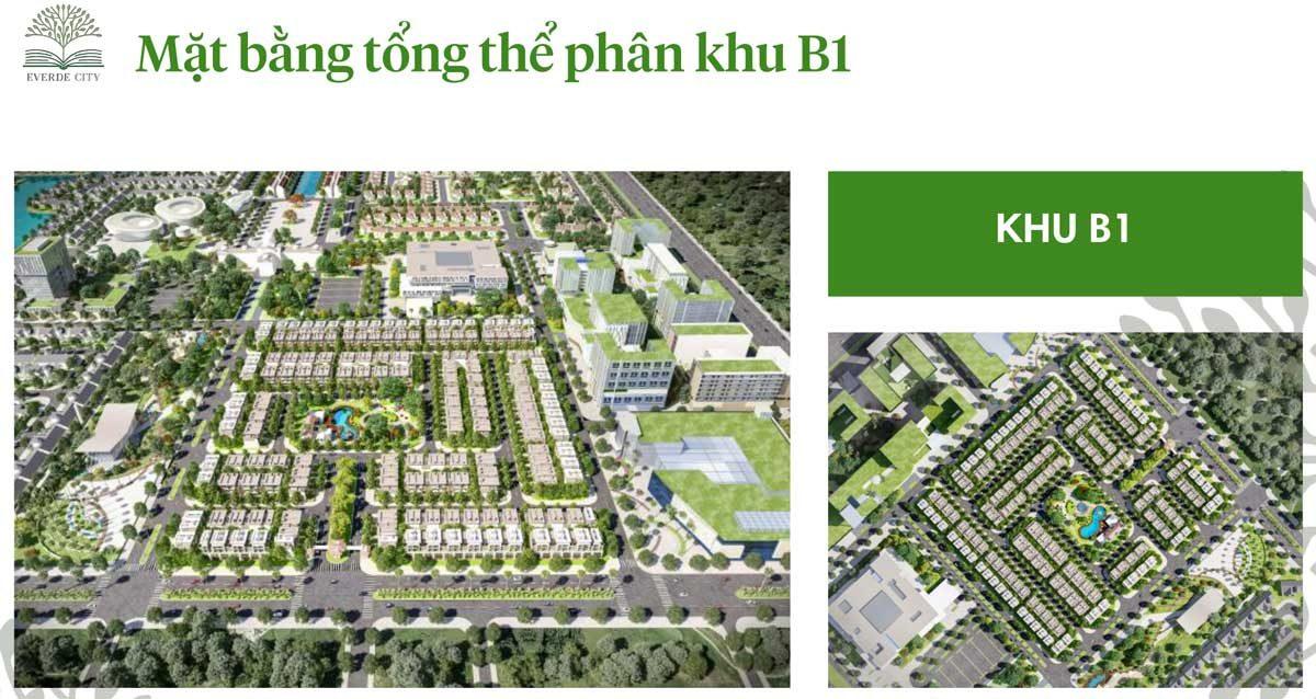 mat bang tong the khu B1 du an everde city - DỰ ÁN EVERDE CITY LONG AN