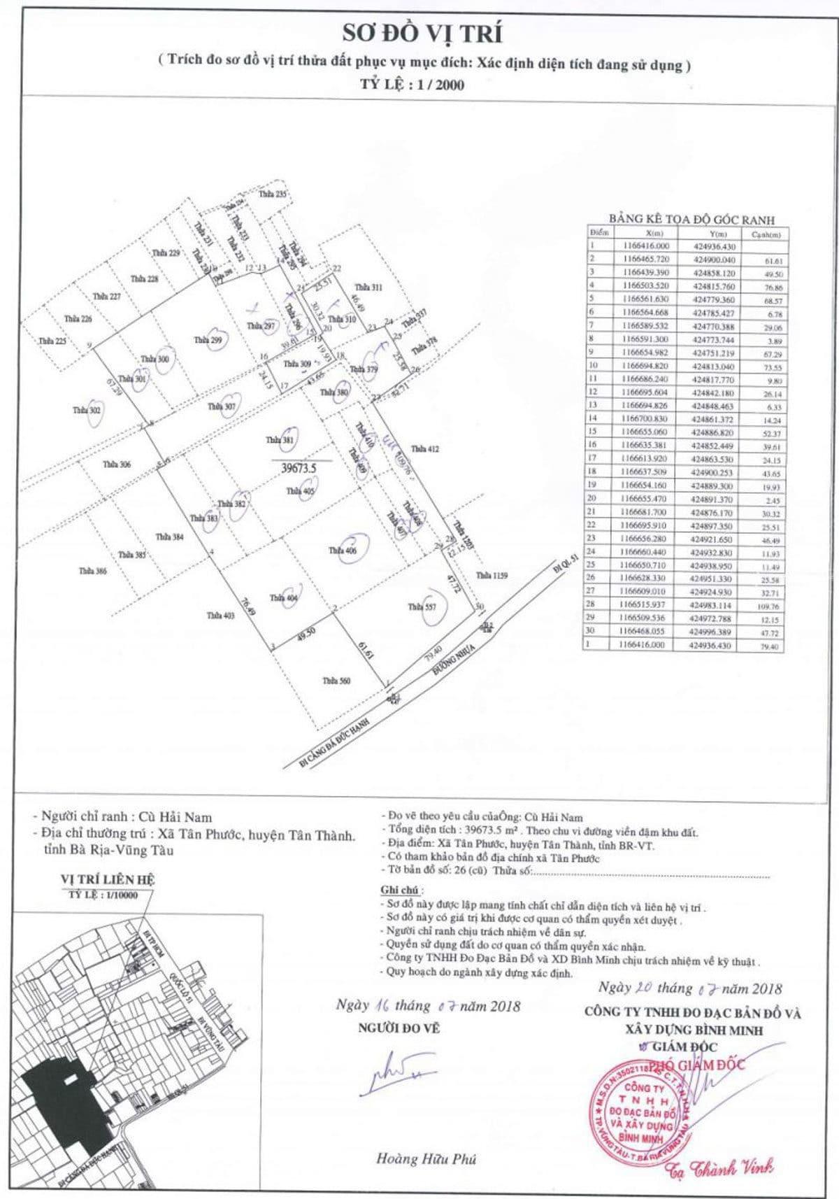 Vị trí theo 1/2000 của Dự án Đất Nền Harbor Center