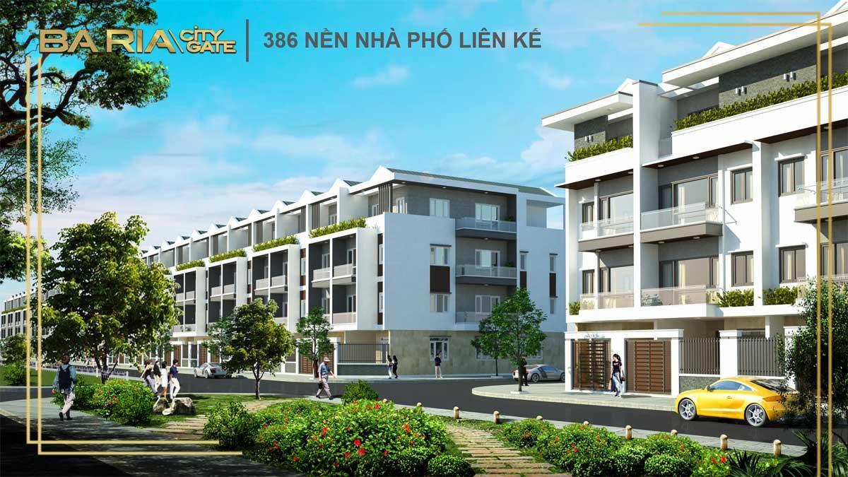 phoi canh nha pho lien ke du an ba ria city gate - DỰ ÁN BARIA CITY GATE BÀ RỊA VŨNG TÀU