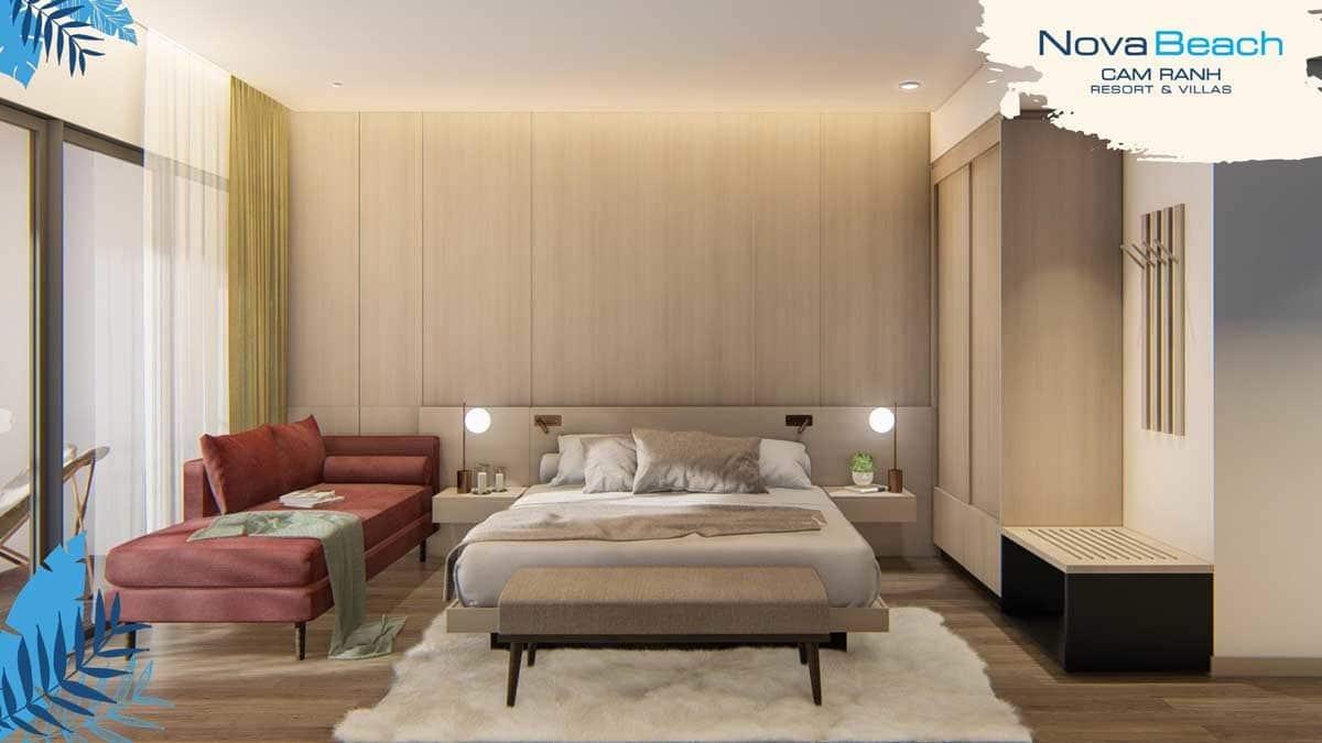 Phòng ngủ Căn hộ NovaBeach Cam Ranh
