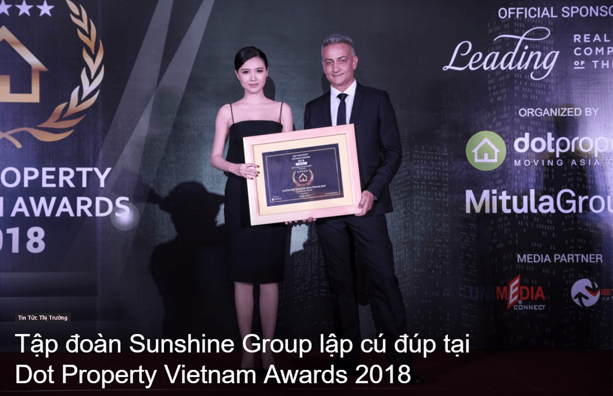 sunshine-group-dat-giai-Dot-Property-Vietnam-Awards-2018