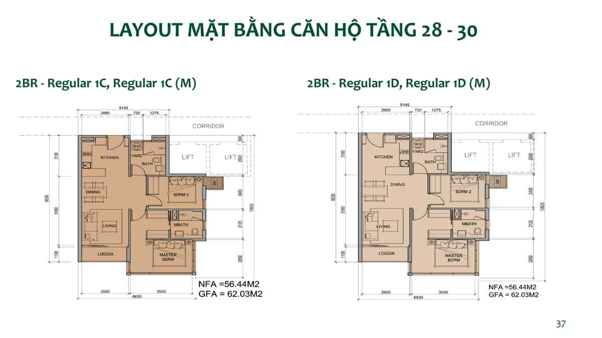Thiết kế Căn hộ Tầng 28-30 Dự án Metro Star Quận 9