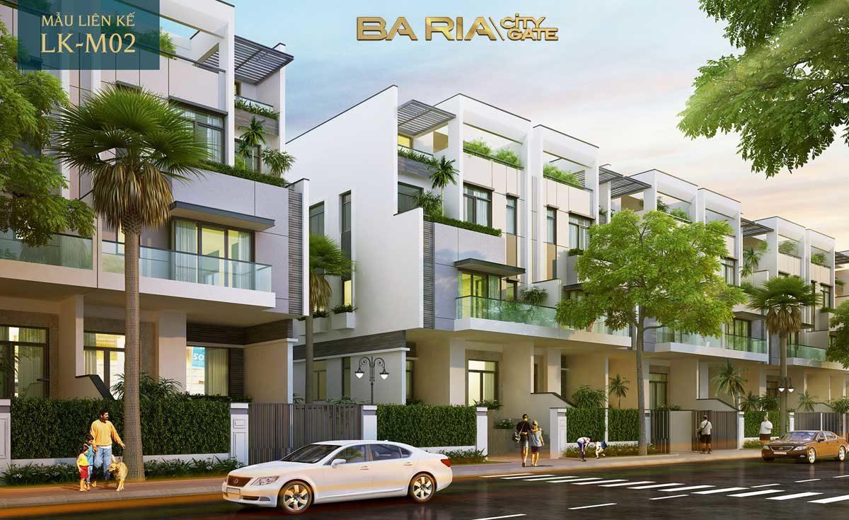 thiet ke nha pho du an baria city gate 2 - DỰ ÁN BARIA CITY GATE BÀ RỊA VŨNG TÀU