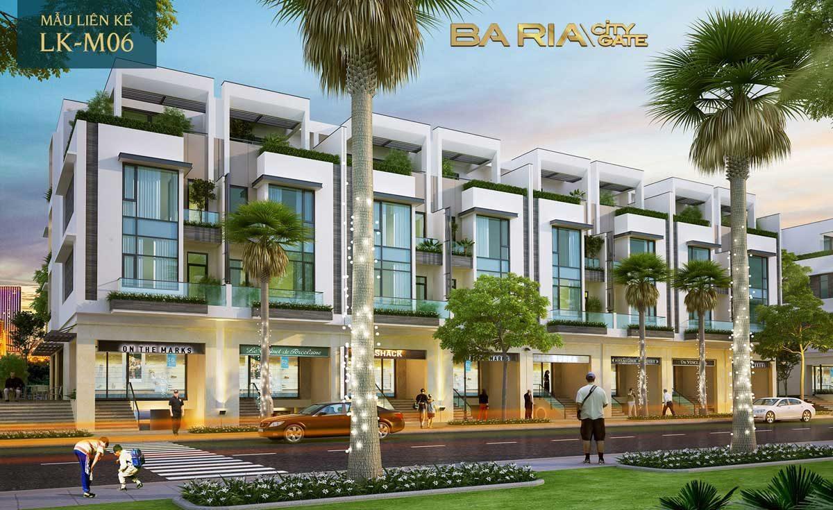 thiet ke nha pho du an baria city gate 6 - DỰ ÁN BARIA CITY GATE BÀ RỊA VŨNG TÀU