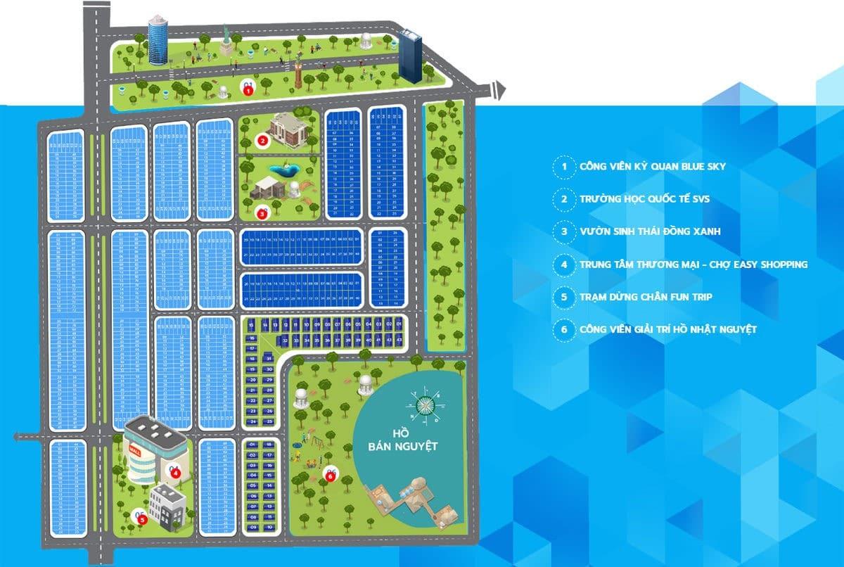 Hệ thống tiện ích nội khu Dự án Biệt thự Sapphia Villas