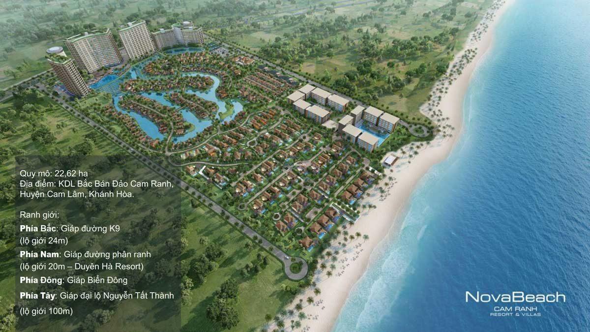 Phối cảnh Tổng thể Dự án Nova Beach Cam Ranh Resort & Villas