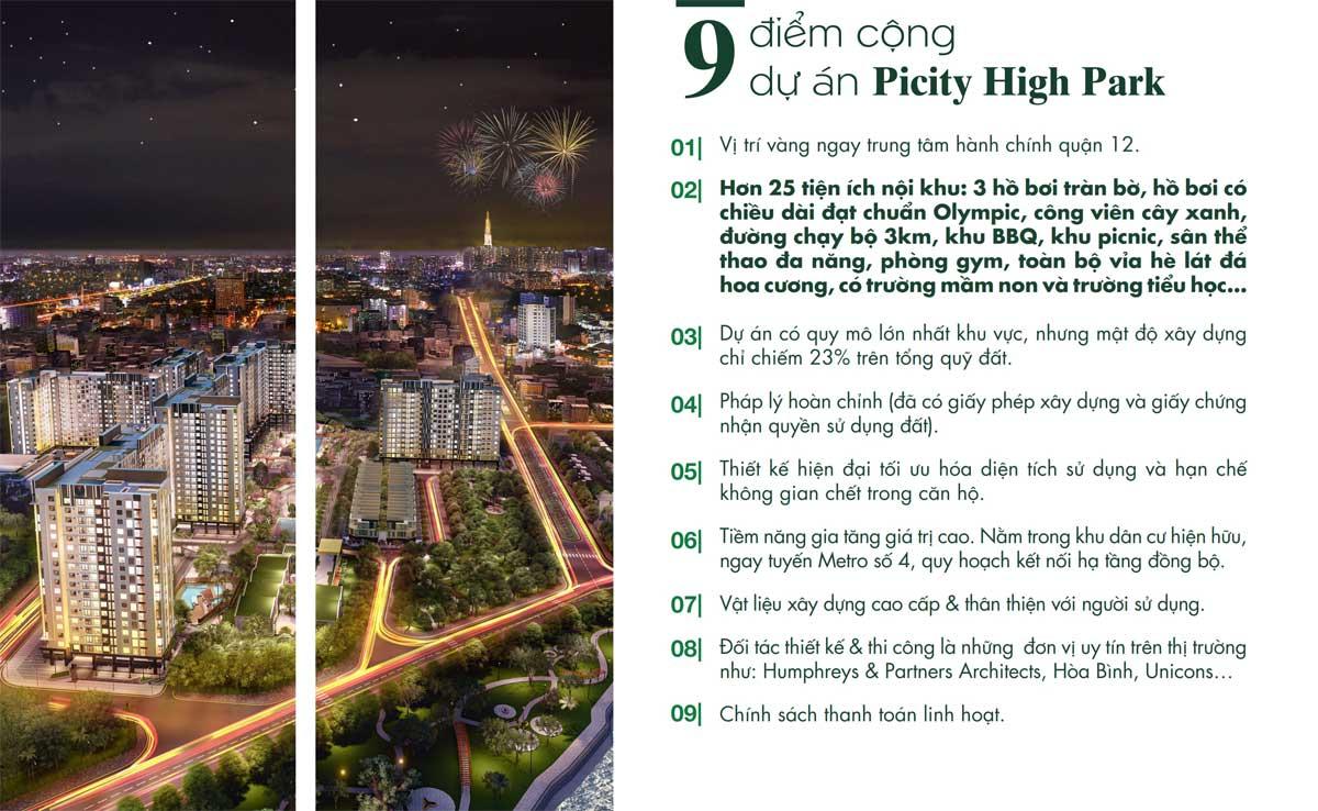 9 diem cong tai picity high park - PICITY HIGH PARK