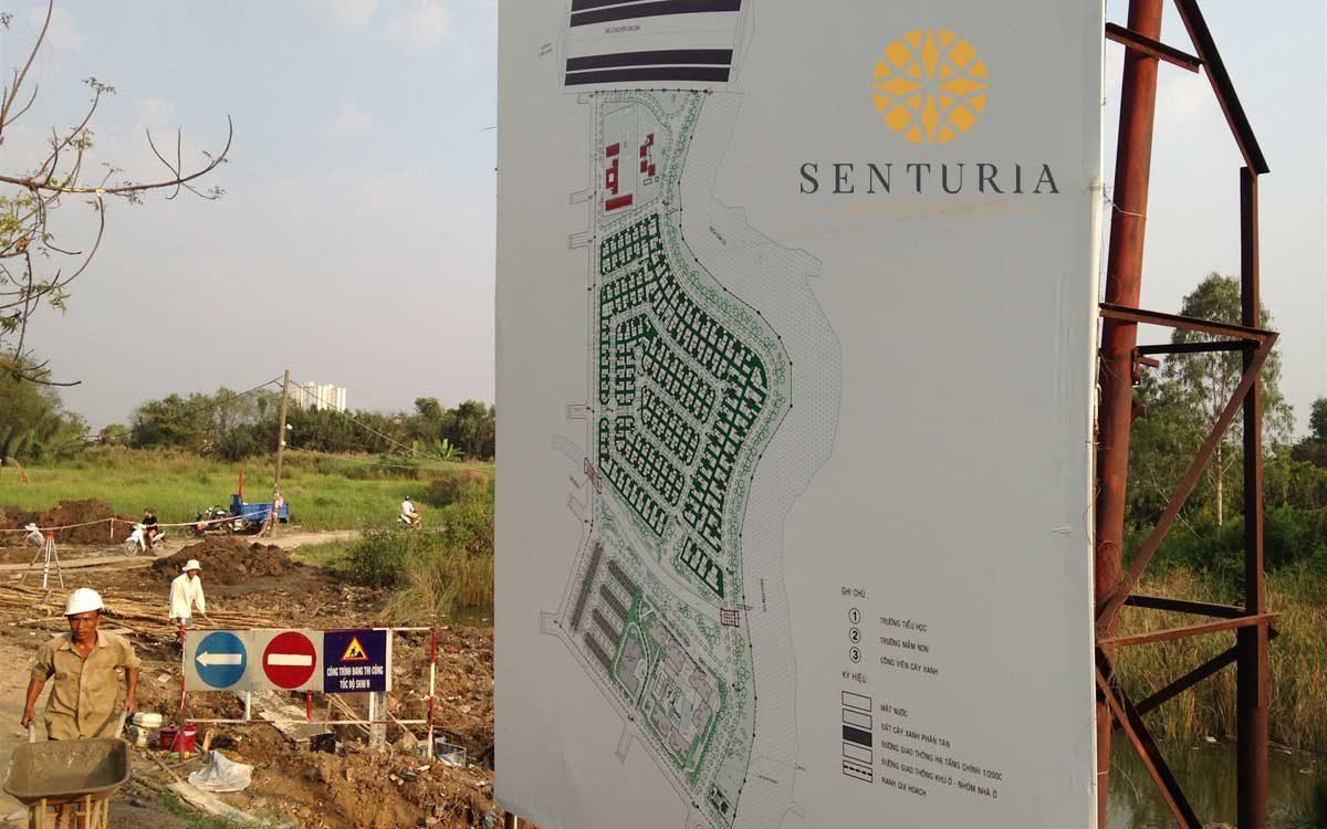 Hình ảnh thực tế Dự án Senturia Nam Sai Gon