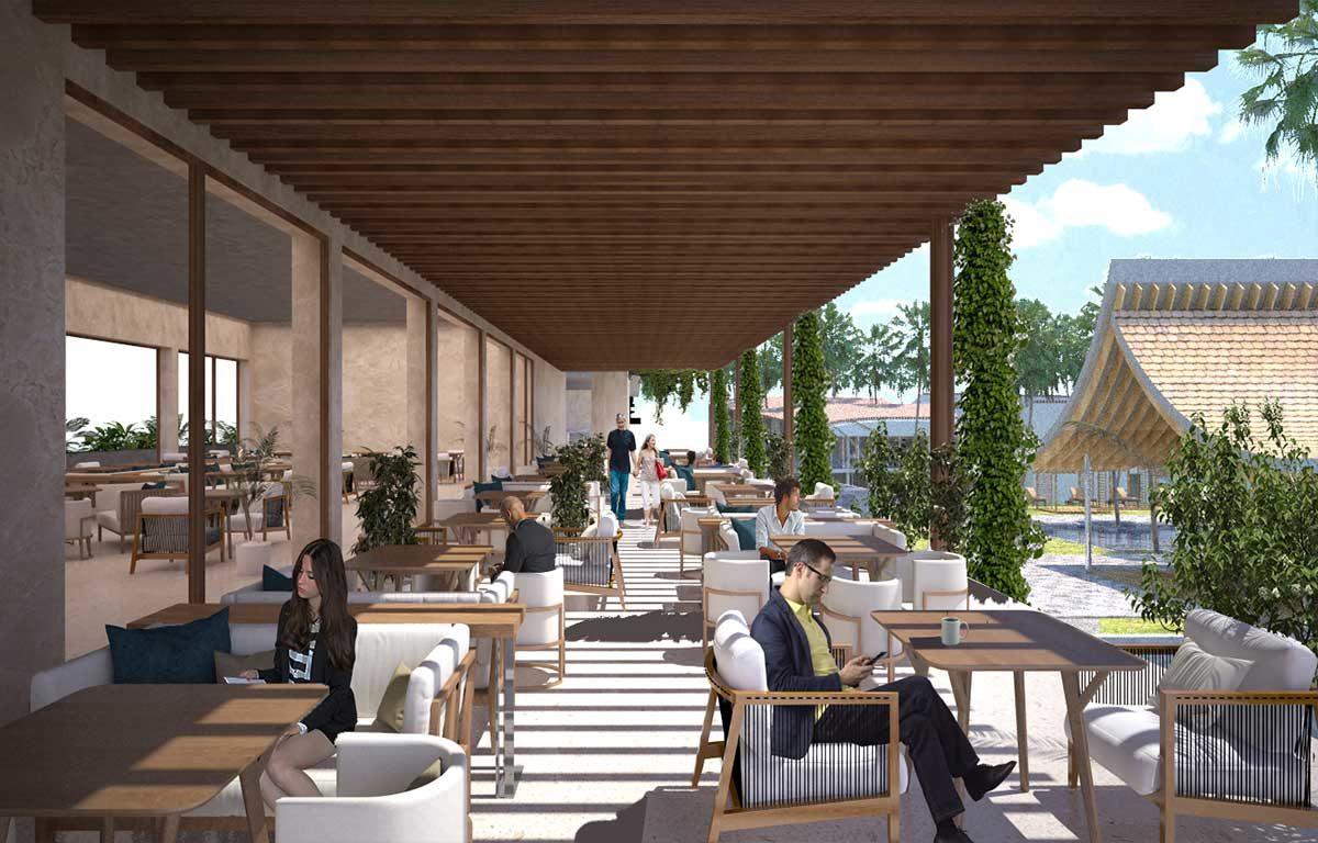 Khu nhà hàng- Cafe trong Rosa Alba Resort