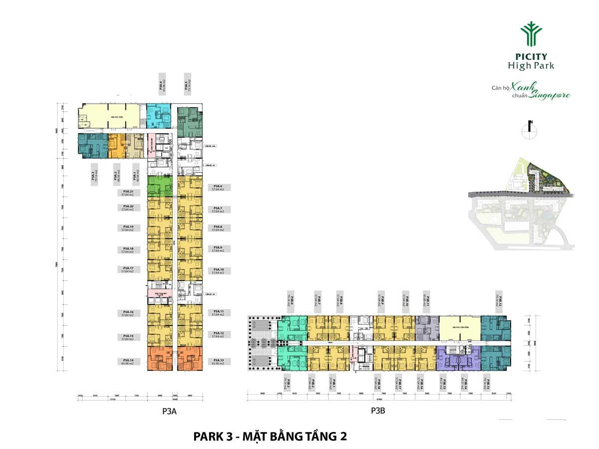 mat bang tang 2 shophouse park 3 picity high park - PICITY HIGH PARK QUẬN 12