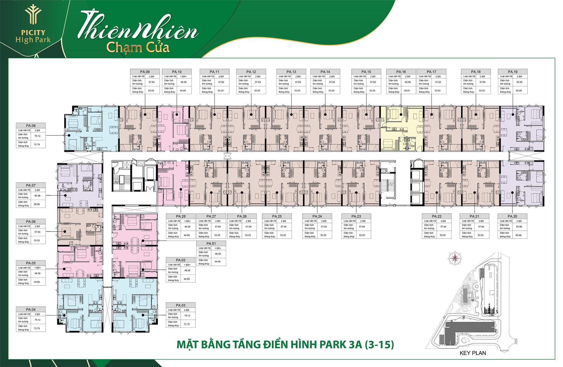 mat bang tang block park 3A picity high park - DỰ ÁN CĂN HỘ PICITY HIGH PARK THẠNH XUÂN QUẬN 12