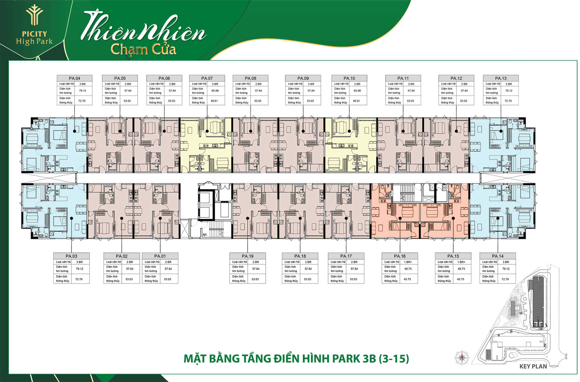 mat bang tang block park 3B picity high park 2020 - PICITY HIGH PARK QUẬN 12