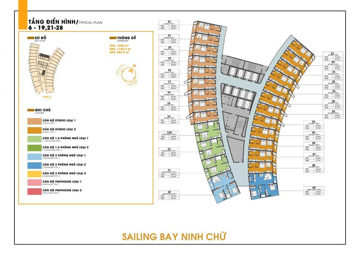 mat bang tang can ho sailing bay ninh chu - DỰ ÁN CĂN HỘ NINH CHỮ SAILING BAY NINH THUẬN