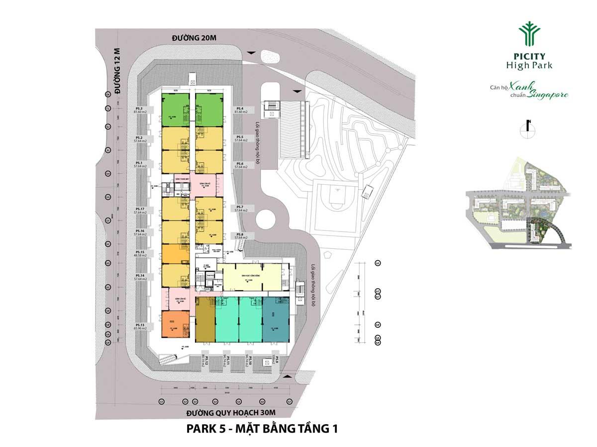 mat bang tang tret shophouse park 5 picity high park - PICITY HIGH PARK QUẬN 12