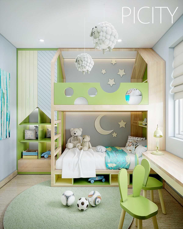 Phòng ngủ nhỏ Căn hộ Pi City Thạnh Xuân