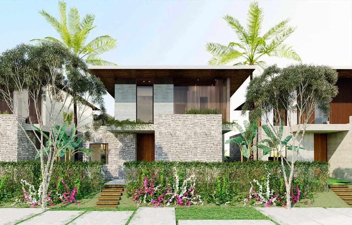 Khu sân vườn Biệt thự mẫu Rosa Alba Resort Tuy Hòa