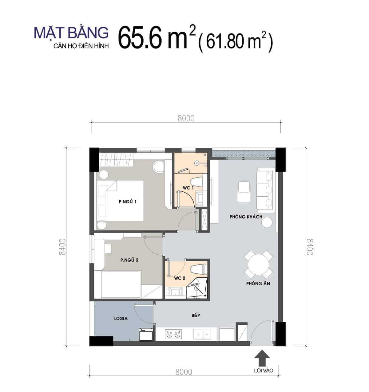 thiet ke can ho 656 m2 2 phong ngu picity 2020 - PICITY HIGH PARK QUẬN 12